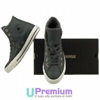 CONVERSE ALL STAR CHUCK TAYLOR LIFT PELLE BIANCO n.37 NUOVE 100 ...