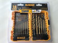 DEWALT DW1354 14Piece Titanium Drill Bit Set, New, Free Shipping