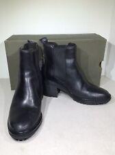 Timberland Sienna High Women's Sz 5.5 Black Block Heel Chelsea Boots X1-982