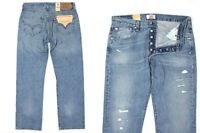 BNWT ORIGINAL LEVI'S 501 ORIGINAL FIT BLUE DENIM DESIGNER JEANS 4100071024