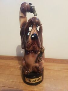 Quirky KITSCH, Vintage 1960's 70's, THE LAST SHOT musical decanter, droopy dog,