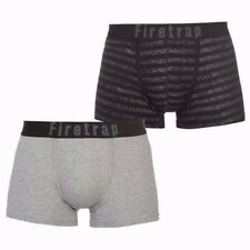 Mens Branded Firetrap 2 Pack Comfortable Two Designs Boxers Underwear S-XXL