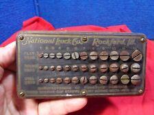 Vintage Advertising Screw Display Paperweight  NATIONAL LOCK COMPANY