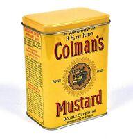 Colman's Mustard Vintage Retro Style Small Storage Tin