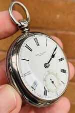 A GENTS EARLY ANTIQUE SOLID SILVER JOHN FORREST, LONDON FUSEE POCKET WATCH, 1897