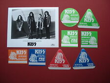 KISS,promo photo,8 Backstage passes,RARE Revenge Tour Originals