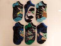 Star Wars Mandalorian Baby Yoda 6 Pair Boys No-Show Socks Small Medium Large
