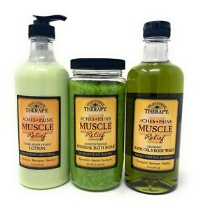 Village Naturals Therapy Aches & Pains Muscle Relief Mineral Bath Set
