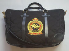 POLO RALPH LAUREN POLO TEAM QUILTED EQUESTRIAN BLACK CANVAS LEATHER BUCKET BAG