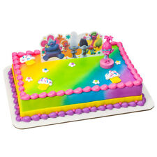 Trolls Colorful Cake Topper Birthday Kids Children Party