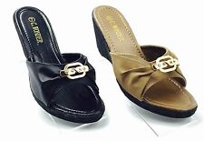 C. Wonder Wedge Sandals, 2 Colors Available Gold Detail Accent Stylish