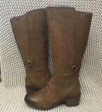 TEVA FOXY TALL WP BROWN LEATHER WATERPROOF WOMEN'S BOOTS SIZE US 9 NEW