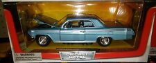 1962 Chevy Impala SS Coupe Die-cast Car 1:24 New Ray 8 inch Blue
