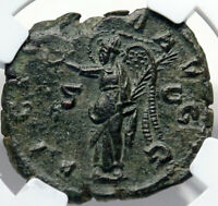 VALERIAN I Authentic Ancient Sestertius Ancient Roman Coin VICTORY NGC i82710