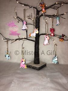 Unicorns And Friends Set Of 10 childrens characters christmas tree decorations