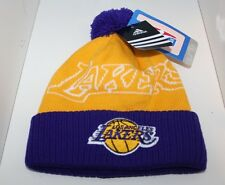 NBA Youth Size 4-7 Los Angeles Lakers Team Colors Cuffed Knit - Gold/Purple