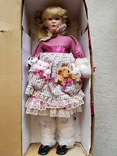 Details about  Treasured Heirloom Collection Porcelain Doll Frannie & Friends 26