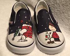 Vans Classic Slip On  (peanuts tree) Charlie Brown Snoopy Christmas toddler 6.5