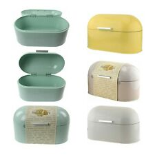 More details for metal bread muffins bin storage canister box container with lid kitchen utensil