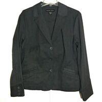 New York & Company Womens Gray Stretch Denim Jacket Size 18 XL Blazer NWOT