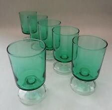Luminarc Small Green Vintage Drinking Glasses Fruit Juice Cordial Aperitif x 6
