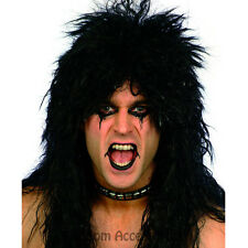 W316 Adult Mens Hard Rocker 80s Kiss Punk Halloween Costume Party Wig