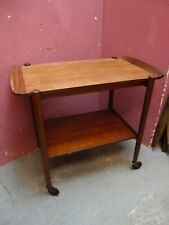 ANTIQUE 1960's G PLAN 2 TIER TEA TROLLEY DINNER WAGON REMOVABLE TRAY