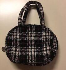 Vera Bradley Black Red White Plaid Tweed Collection Canteen Winter Handbag Tote