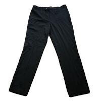 CJ Banks 14W TALL Straight Fit Black Trouser Pants NWT