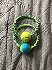 New Rope Ring Tennis Ball Dog Toy
