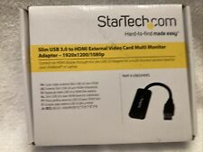Startech Slim USB 3.0 to HDMI External Video Card Monitor Adapter + HDMI Cable