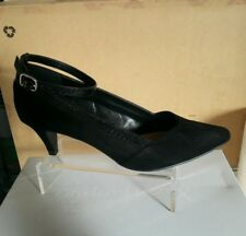 EMILIO LUCA X ANKLET WOMENS BLACK MAN MADE HIGH HEELS SHOES SIZE 4