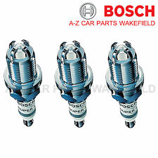 B832FR91X For Vauxhall Corsa 1.0 1.0i Bosch Super4 Spark Plugs X 3