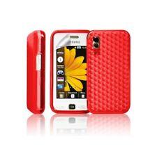 coque en gel rouge pour Samsung Player One S5230 + Film de protection