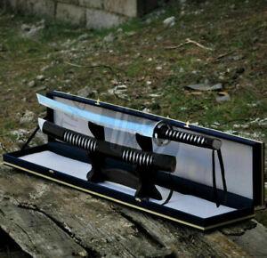 UBR CUSTOM HANDMADE D2-TOOL STEEL JAPANESE KATANA SAMURAI SWORD WITH SHEATH
