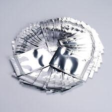 50 100 200 Aluminum Foil Pouch Packing Bag Ziplock Mylar Self Seal Sliver 100ml