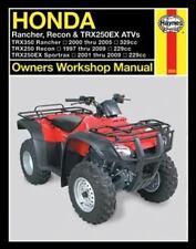 2000-2009 Honda Rancher Recon TRX250EX ATV Haynes Repair Service Manual 7780