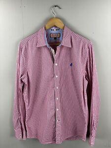 Pink Thomas Pink London Men's Long Sleeve Shirt - Size Medium Pink Stripe