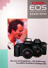 Canon EOS 1000F/1000 Prospekt brochure deutsch german - 0732