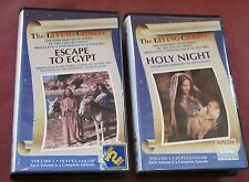 Lot of 2 The Living Christ VHS Videos Escape to Egypt & Holy Night Vol.1-2