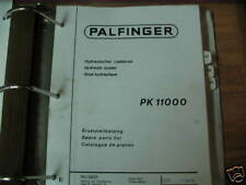 Palfinger PK 11000 Hydraulic Loader Parts Manual