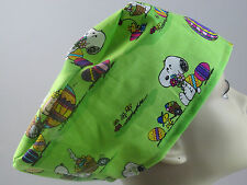 WOMENS SURGICAL_SCRUB HAT_Charlie Brown_Linus_lucy_snoopy_woodstock_Easter Eggs