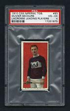 PSA 4 1910 C59 LaCROSSE CARD #93 OLIVIER SECOURS