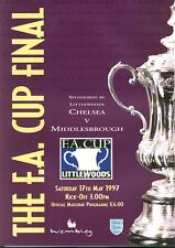 FA CUP FINAL 1997: Chelsea v Middlesbrough