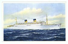 Vintage S.S. Homeric Home Lines Issued Steamship Postcard