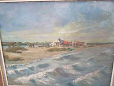 grande Peinture  paysage marin bateaux