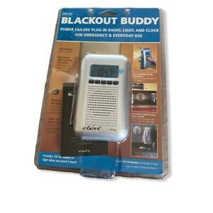 Blackout Buddy FR100 Power Failure Plug-In Radio Light Clock Emergency Use