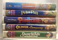 Lot of 5 Walt Disney VHS Masterpiece Collection/1 Black Diamond Clamshell Movies