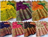 Indian Saree Classical Traditional Kanchipuram Silk Party Wedding Designer Sari