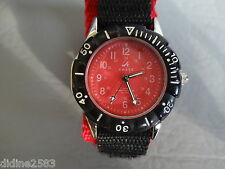 AMBRE MONTRE BRACELET QUARTZ SCRATCH ENFANT GARCON FILLE ROUGE NOIR  BOYS WATCH